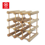 Superior Quality Solid Wooden Wine Bottles Display Stand Rack