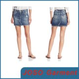 Fashionable Ladies Frayed Denim Short Skirt (JC2041)