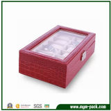 High Quality Red Men′s Wooden Watch Box