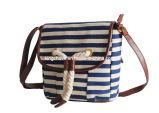 Fashion Blue Striped Canvas Handbag (KCH110)