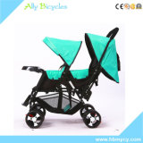 Baby Buggy Umbrella Stroller Portable Foldable Shockproof Stroller Two-Seat Stroller