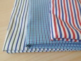 Yarn Dyed Polyester Cotton Stripes Garment Shirt Fabric