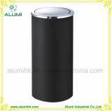 Hotel Stainless Steel Black Ashtray Bin with Swing Lid