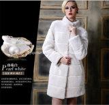 2014 Hot Sale Brand Women Fake Fox Fur Coat (Qy-C33)
