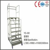 Storage Ladder Cart with Wheels and Handle