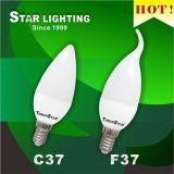 F37 Aluminum Plastic 5W LED Candle Light