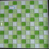 Mixcolour Crystal Glass Mosaic Tile Decorative Material