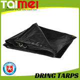 Black Durable D-Ring Tarp with Sewing Triangle