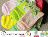 100% Bamboo Fiber Anti-Bacterial Itch Colorful Ladies Sock