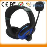 Over Ear Adjustable 3.5mm Headset Stereo Mic Headphones for PC