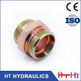 Zinc Plating Metric Bsp Hose Fitting Hydraulic Rubber Hose Adapter