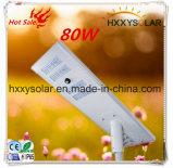 80W High Lumen Quality LED Solar Street Light with Induction