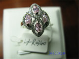 Jewellery-Color Cubic Zirconia Sterling Silver Rings (R0340)