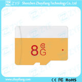 New Design White and Yellow 8GB Class 10 Micro SD Memory Card (ZYF6031)
