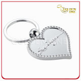 Bling Heart Metal Key Chain with Glitter Finish