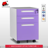 Factory Supply Metal 3 Drawers Moving Storage Cabinet