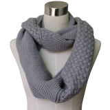 Ladies Fashion Acrylic Knitted Infinity Scarf (YKY4186-3)