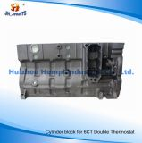 Engine Cylinder Block for Cummins 6CT 8.3 Double Thermostat 6bt/4bt/Isf2.8/Isf3.8/Isg