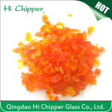 Orange Colored Landsacping Glass Chips
