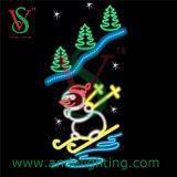 Christmas Snowman Motif Light 2D Pole Street Decoration Light