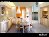 2015 New Welbom European Luxury Solid Wood Golden Kitchen Cabinet