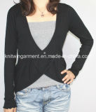 Ladies Knitted Long Sleeve Cardigan Sweater for Casual (12AW-188)