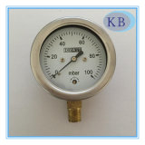 Stainless Steel Capsule Pressure Gauge Safeglass Window Dia. 63mm