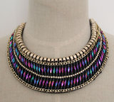 Ladies Fashion Charm Crystal Collar Necklace (JE0040)