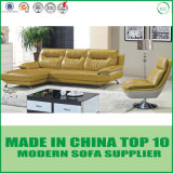 Home Furniture Living Room Leather Sofa Set with Swivel Chair