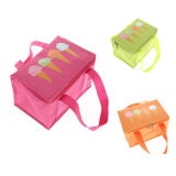 Kid′s Lunch Bag 600d Polyester with Ice Cream Print