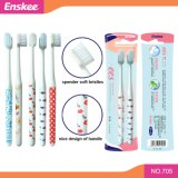 Adult Toothbrush with Super Slender Soft Bristles 2 in 1 Economy Pack 705