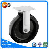 "Rigid Plate Caster with 8 X 2"" Rubber Wheel"