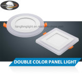 Double Color LED Downlight 6W Glass Housing LED Round Panel Light