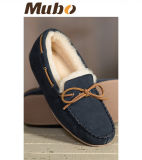 Bowknot Design Sheepskin Moccasin Casual Shoes for Men and Women