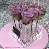 Wholesale Fashion Clear Acrylic Flower Box Rose Box