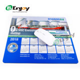 2018 High Quality Custom Calendar Rubber Promotional Mouse Pad