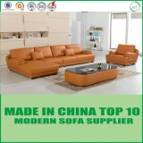 European Classical Modern Living Room Sofa Bed with Real Leather