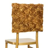 Wedding Decoration China Supply 3D Rosette Embroidery Chavira Chair Cover