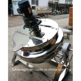 Double Jacketed Steam Heating Industrial Boiling Pot with Mixer