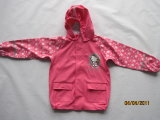 PU/Polyester Raincoat for Kids with Printing