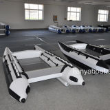 Liya 3m-4.3m Korea PVC High Speed Boat Inflatable Catamaran