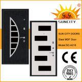 Exterior Security Steel MDF PVC Wooden Door for House (SC-A216)