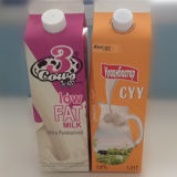 1L Fresh Milk/Juice/Cream/Wine/Water Gable Top Carton Box with Aluminum Foil