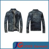 Man Coat Denim Jacket Blue and Black (JC7028)