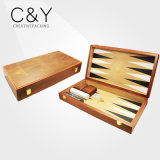 MDF Frame Leather Cover Small Backgammon