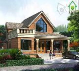 Prefabricated OEM European-Style 2 Floor House Villa with Attic