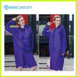 Bicycle EVA Purple Ladies Outdoor Raincoat Rvc-052