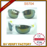 S5704 Half PC Frame Sports Eyewear with Crystal White Color