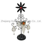 Sunflower Wrought Iron Jewelry Display Rack (wy-4292)