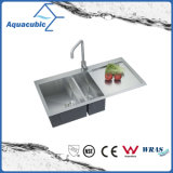 Luxury Handmade Double Bowl Kitchen Sink (ACS3920A2)